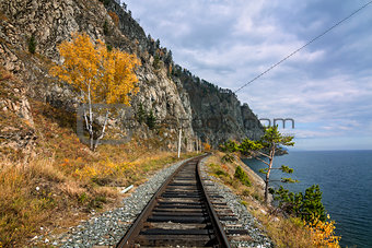 Autumn on the Circum-Baikal railway