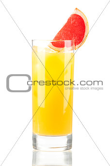 Alcohol cocktail with orange juice