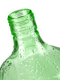 Green bottle closeup