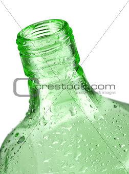 Green bottle closeup