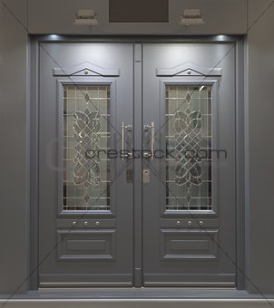 Massive Aluminum Door