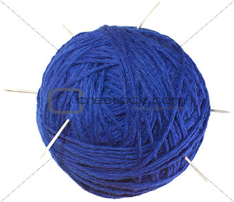 Blue Ball of Wool Cutout