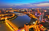 Beautiful night scenery of Nanning