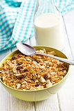 crunchy muesli in bowl