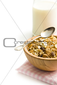 crunchy muesli in bowl