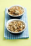 muesli in ceramic bowls