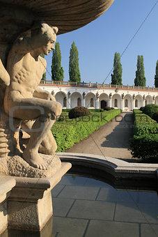 Fountain in the Flower Garden in Kromeriz