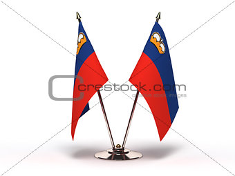 Miniature Flag of Liechtenstein