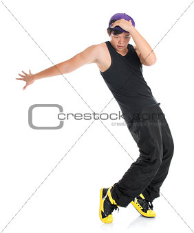 Asian youth hip hop dancer