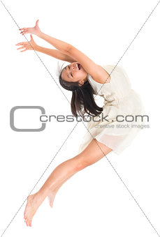 Asian teen contemporary dancer