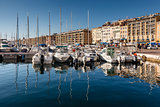 MARSEILLE, FRANCE - January 11: Boats on January 11, 2012 in the