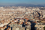 Aerial View of Marseille City and Mountains in Background, Franc