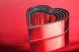 metal hearts shaped