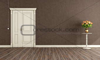 Vintage room with old door