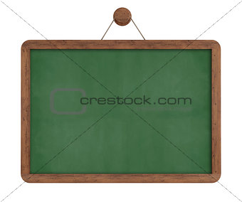Green vintage chalkboard isolated
