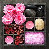 spa and aromatherapy set in black box