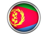 National Flag of Eritrea . Button Style .  Isolated