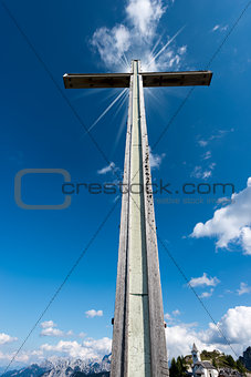 Cross Against the Blue Sky - Lussari Italy