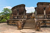 Structure unique to ancient Sri Lankan architecture.