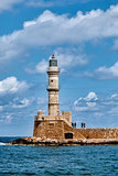 Venetian lighthouse in Chania, Greece
