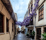 Narrow streets in Chania, Greece