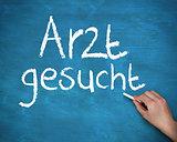 Hand writing arzt gesucht