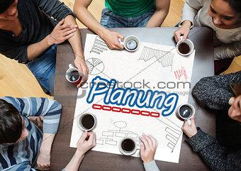 Team planning together