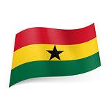 State flag of Ghana.
