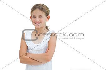 Cute young girl posing