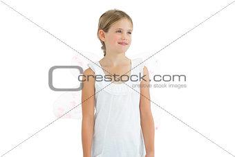 Thoughtful young girl posing