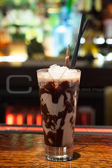 Close up on mouth watering drink