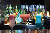 Close up on mouth watering cocktails