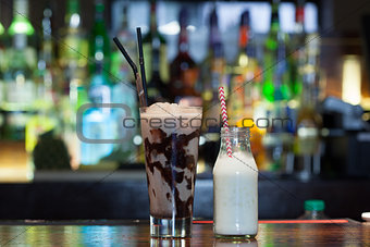 Close up on mouth watering drinks