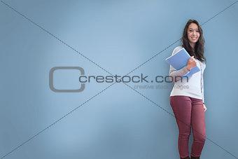 Pretty student posing