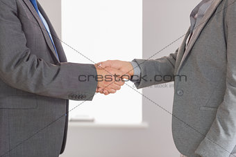 Close up on two businesspeople shaking hands