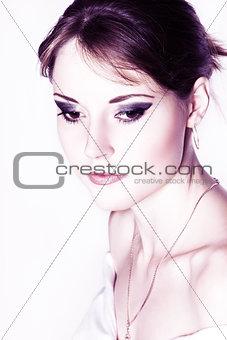 Beautiful pensive girl