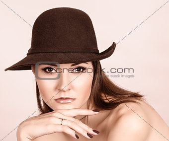 Beautiful woman in hat