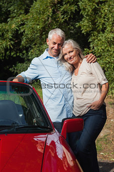 Happy mature couple posing