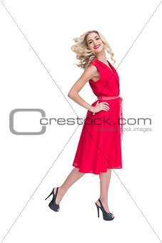 Smiling attractive woman posing