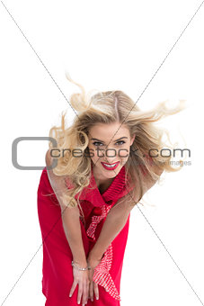 Smiling beautiful woman posing