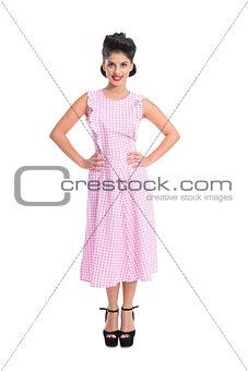 Beautiful retro woman standing