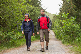 Couple going on a hike together