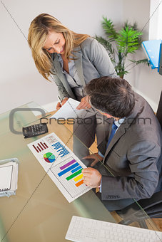 Business team discussing in an office