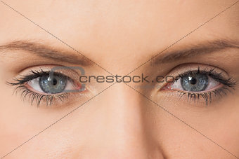 Girl staring at camera