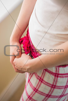 Girl crossing her hands