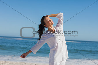 Attractive woman relaxing the sun