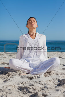 Woman relaxing at beach