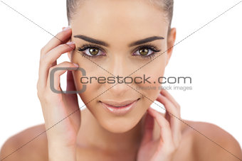 Close up of a smiling woman looking at camera