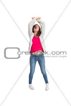 Pretty young woman dancing