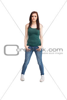 Casual young woman posing